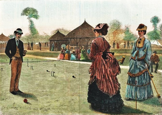 The Last Croquet Game of the Summer Published in Harper's Bazar, New York, Nov. 2, 1872.